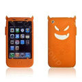 Angel and Devil Silicone Case for iPhone 3G/3GS - Devil orange