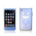 Angel and Devil Silicone Case for iPhone 3G/3GS - Devil sky-blue