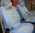 blue hello kitty 18-piece full sets Universal Car Seat Covers Kits