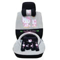 hello kitty 19 pcs full sets Car Seat Covers Kits - black