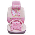 hello kitty 19 pcs full sets Car Seat Covers Kits - pink