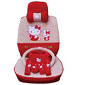 hello kitty 19 pcs full sets Car Seat Covers Kits - red