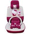 hello kitty 19 pcs full sets Car Seat Covers Kits - rose