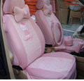 pink hello kitty 18-piece full sets Universal Car Seat Covers Kits
