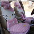 pink hello kitty 15-piece full sets Car Seat Covers Kits