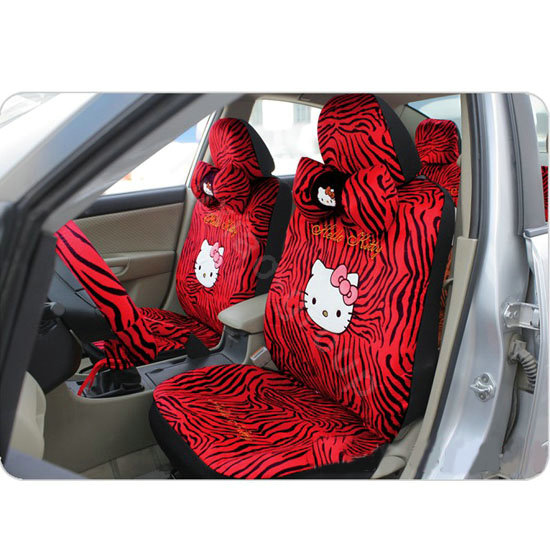 buy wholesale hello kitty zebra universal car seat covers sets red eb002 car seat covers. Black Bedroom Furniture Sets. Home Design Ideas