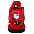 hello kitty Zebra universal Car Seat Covers sets - red EB002