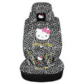 Hello Kitty leopard universal Car Seat Covers sets - black EB002