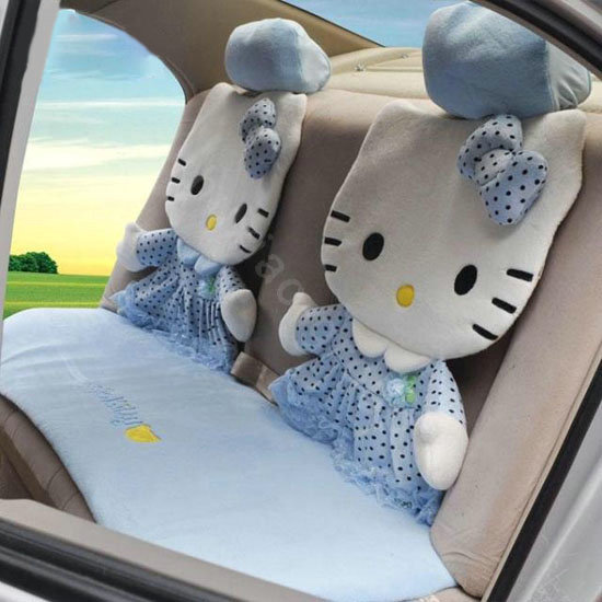buy wholesale hello kitty universal car seat covers sets 12 pieces blue car seat covers. Black Bedroom Furniture Sets. Home Design Ideas