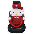 Hello Kitty Universal Car Seat Covers sets 12 pieces - red EB003