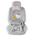 OULILAI Hello Kitty Bud silk Car Seat Covers sets - gray