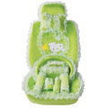 OULILAI Hello Kitty Bud silk Car Seat Covers sets - green