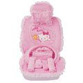 OULILAI Hello Kitty Bud silk Car Seat Covers sets - pink