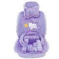 OULILAI Hello Kitty Bud silk Car Seat Covers sets - purple