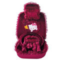 OULILAI Hello Kitty Bud silk Car Seat Covers sets - rose