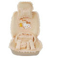 OULILAI Hello Kitty Bud silk Car Seat Covers sets - yellow