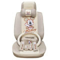 Mickey Mouse ice silk Car Seat Covers sets - beige EB002
