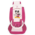 Mickey Mouse ice silk Car Seat Covers sets - rose