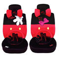 Mickey Mouse plush fabrics Car Seat Covers sets - red