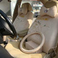 Doraemon plush universal Car Seat Covers sets - beige