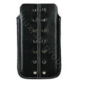 Holster leather case for Blackberry Bold Touch 9900 - black EB001