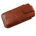 Holster leather case for Blackberry Bold Touch 9900 - brown EB004