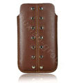 Holster leather case for Blackberry Bold Touch 9900 - brown