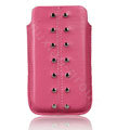Holster leather case for Blackberry Bold Touch 9900 - pink