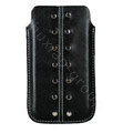 Holster leather case for Blackberry Bold Touch 9930 - black EB001