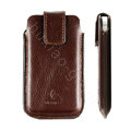 Holster leather case for Blackberry Bold Touch 9930 - brown EB001