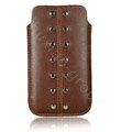 Holster leather case for Blackberry Bold Touch 9930 - brown