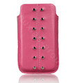 Holster leather case for Blackberry Bold Touch 9930 - pink