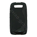TPU silicone cases covers for Blackberry 9850 - black