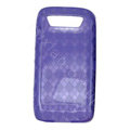 TPU silicone cases covers for Blackberry 9850 - purple