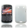 TPU silicone cases covers for Blackberry 9900 - white