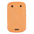 scrub silicone cases covers for Blackberry Bold Touch 9900 - orange