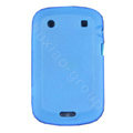 scrub silicone cases covers for Blackberry Bold Touch 9930 - blue