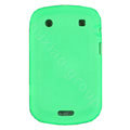scrub silicone cases covers for Blackberry Bold Touch 9930 - green