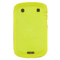scrub silicone cases covers for Blackberry Bold Touch 9930 - yellow