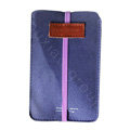 Holster leather case for Blackberry Storm 9530 - Blue