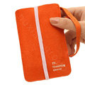 Holster leather case for Blackberry Storm 9530 - orange