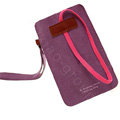 Holster leather case for Blackberry Storm 9530 - purple