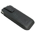 PIERVES Holster leather case for Blackberry Storm 9530 - Black
