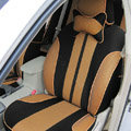 Double color Series Car Seat Covers Cushion - Yellow