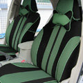 Double color Series Car Seat Covers Cushion - green