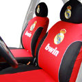 Real Madrid Car Seat Covers sets Four Seasons General - Red