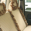 Auto Car Front Rear Seat Covers Cushion - Brown EB005