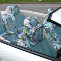 Bud silk car seat covers Cotton seat covers - Blue