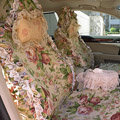 Bud silk car seat covers Cotton seat covers - Pink