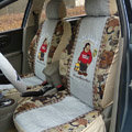 universal Car Seat Covers Flax Seat Covers - Gray
